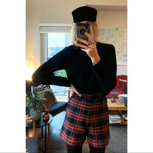 Vintage Plaid High Wasted Shorts